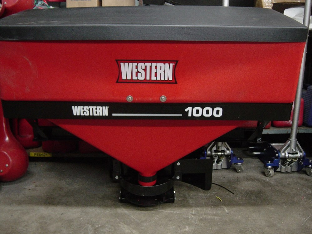 medium resolution of western low pro 1000 tailgate salt spreader with wireless remote control