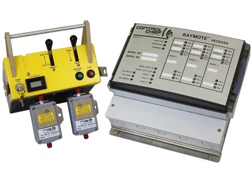 -Designed for remote operation of 5-speed cranes -Can control up to five 3-speed or four 5-speed motors -Full system diagnostics -Rechargeable battery power -Remote shutdown function -Programmable alert function -Programmable motor sequencing -Auxiliary functions can be added -Motherboard design -Operating range up to 150 ft -Sensor placement permits operating range modification