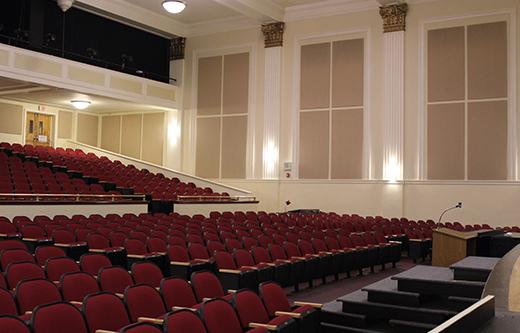Auditorium Acoustic Materials