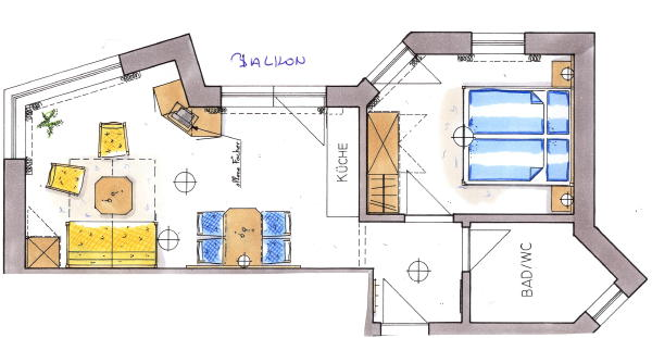 Map apartment 1