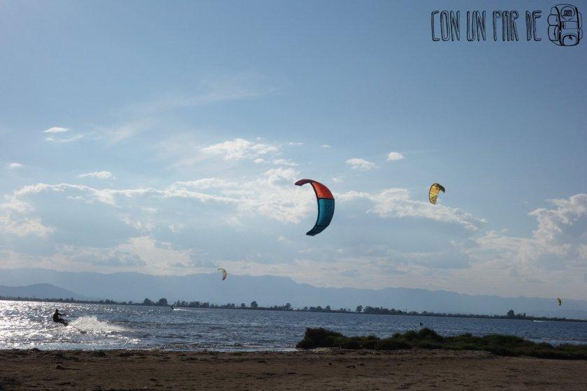 kitesurf al atardecer