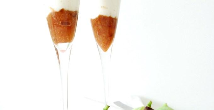 Crema di ricotta con fichi bianchi e neri: dessert super fast!