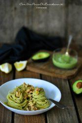 salmon and avocado spaghetti