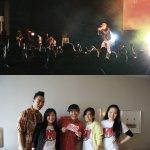 Top: Jin @ Queen Elizabeth Theatre, Bottom: Converge mag crew with Jin.