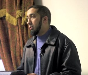 Nouman Ali Khan during a lecture