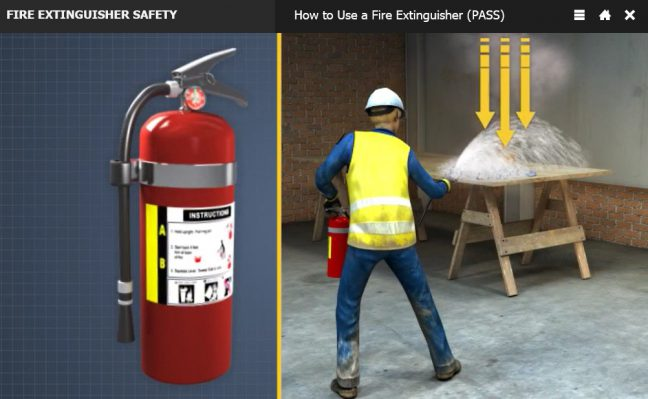 Step Step Extinguisher Poster Fire