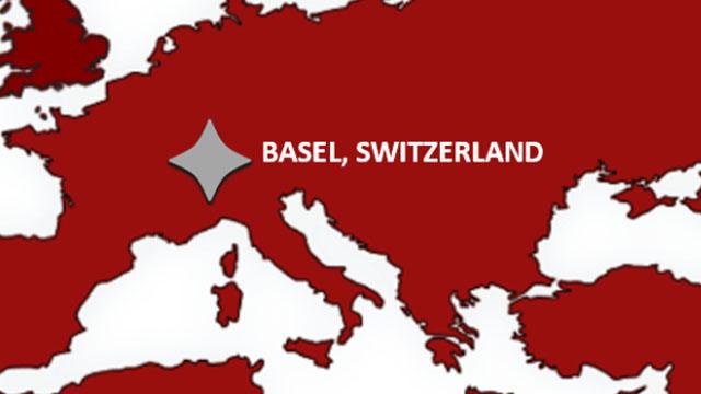 Basel, Switzerland on a map header image