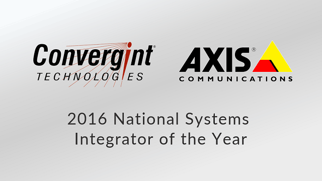 Convergint Technologies 2016 National Integrator of the year header image