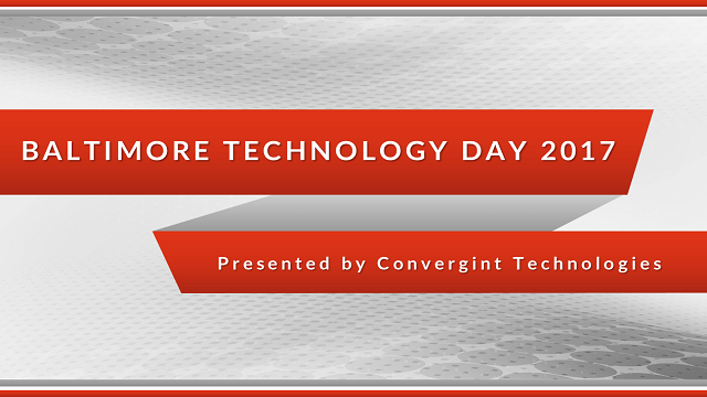Baltimore technology day 2017 header image