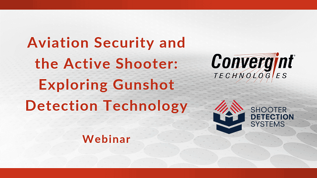 Webinar exploring gunshot detection technology header image
