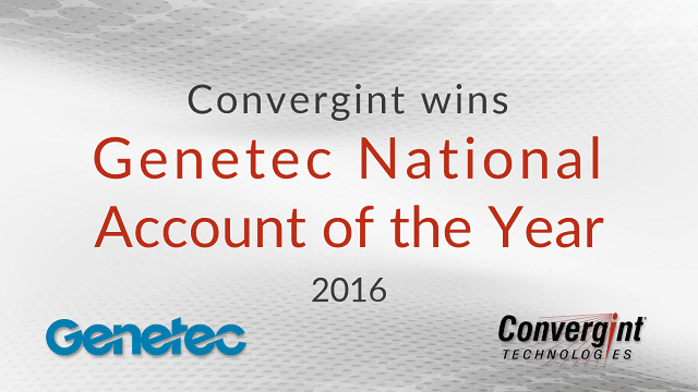 Convergint wins Genetec National Account of the Year 2016 header image