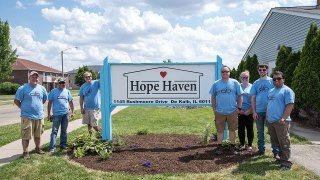 Convergint day Hope Haven Group photo