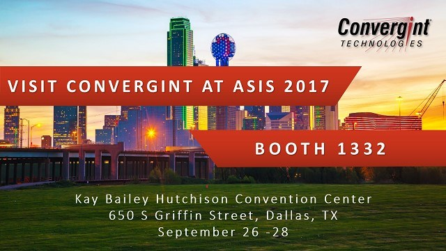 Asis 2017 Booth 1332 in Dallas Texas Visit Convergint header image