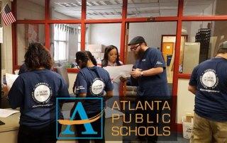 Convergint Colleagues working at Atlanta Public School