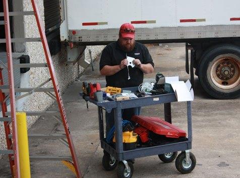 Convergint technician finding parts