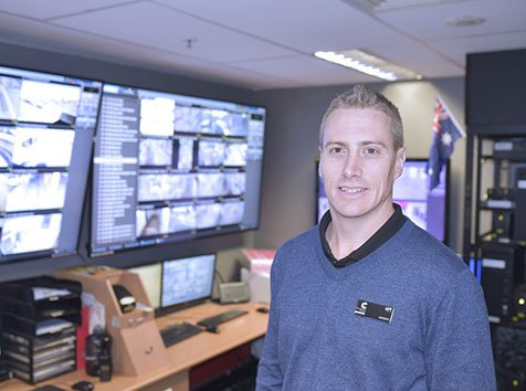 Andrew Hungerford GPT in the Charlestown Shopping Centre Control Room
