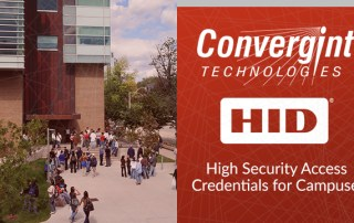 Convergint Technologies and HID, Students walking around campus