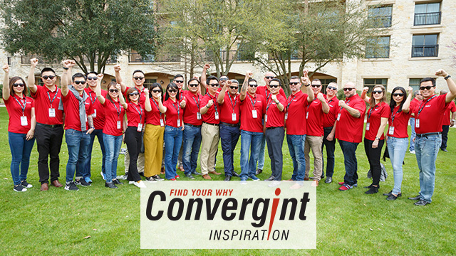 Convergint colleagues posing in group