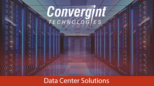 Data center with logo over it