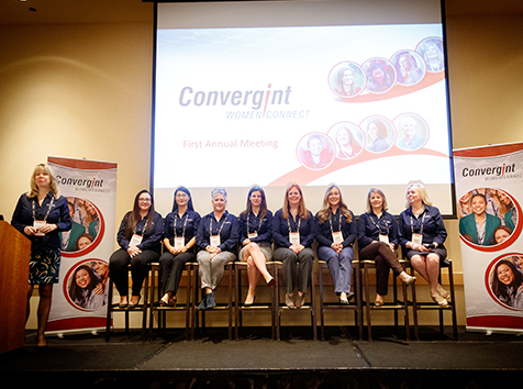Panel of women for Convergint Women Connect conference