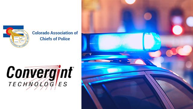 Police car with logos