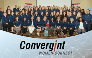 Women of Convergint Women Connect Pose for a Photo