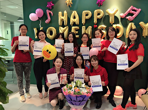 ICD colleagues posing for international women's day