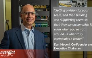 Dan Moceri posing in a server room