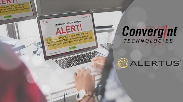 Person receiving an alert on their laptop