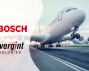 Airplane with Bosch and Convergint logo overlay