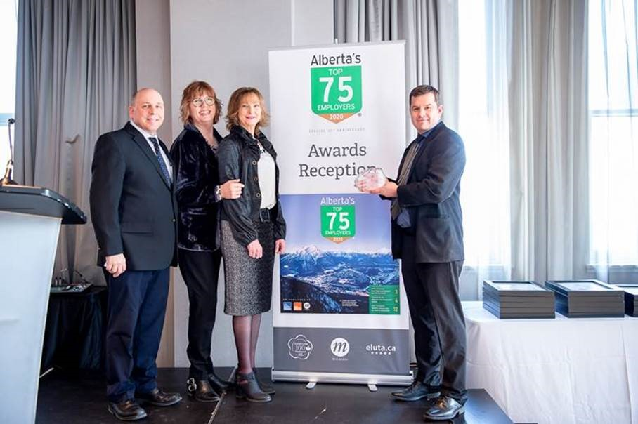Convergint's Team Receiving Alberta's Top Employers Awards