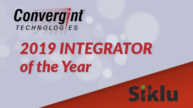 Convergint Awarded 2019 Integrator of the Year by Siklu 001