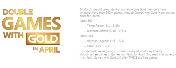 Imagem vazada sugere jogos da Games with Gold de Março