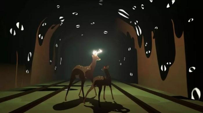 Jogo de aventura Way to the Woods - os personagens principais