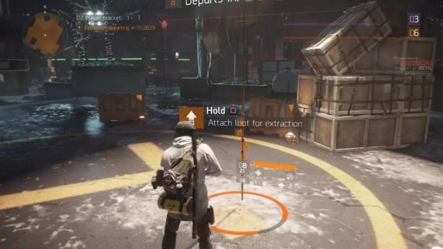 Ponto de extração da Dark Zone (Zona Cega) de The Division