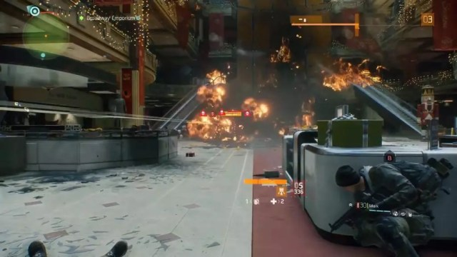 Explosão causada por uma Sticky Bomb