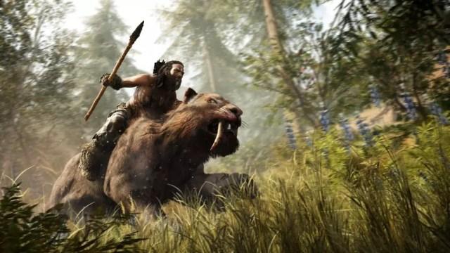 Takkar monta no tigre dentes de sabre em Far Cry Primal