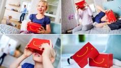 Propaganda do óculos do McDonald's