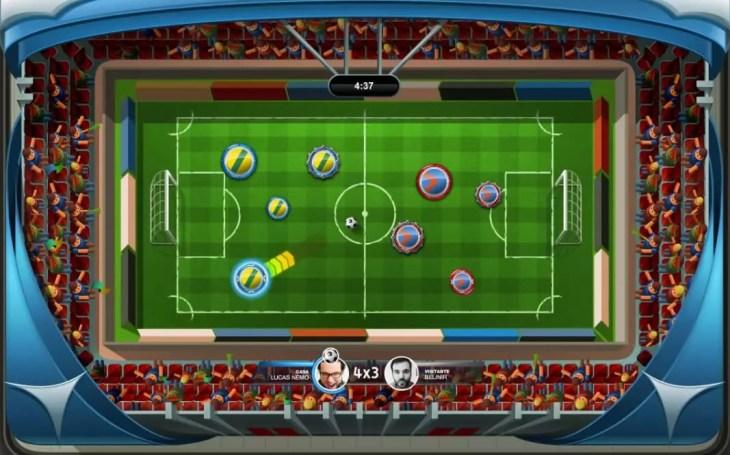 partida de Super Button Soccer