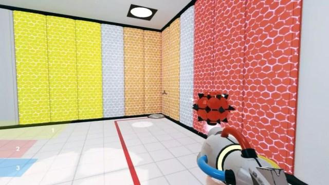 Mistura de cores no jogo ChromaGun