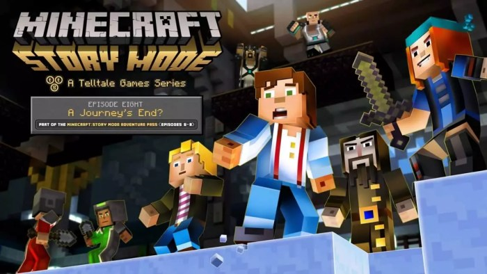 Data episódio 8 Minecraft Story Mode
