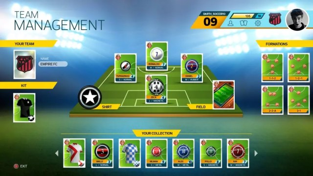 Super Button Soccer Team Management