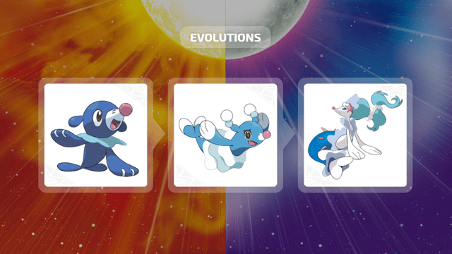 Popplio, Brionne e Primarina em Pokémon Sun & Moon
