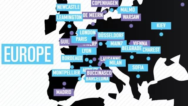 Os estúdios da Ubisoft na Europa