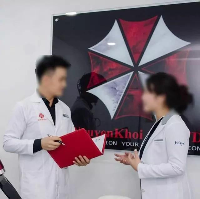 Clínica no vietnã com simbolo da umbrella