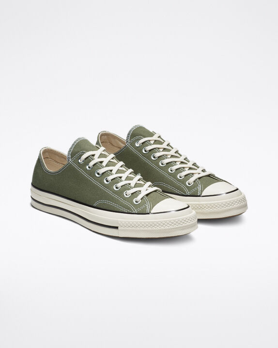 green converse shoes low