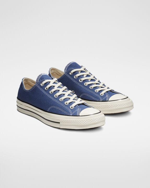 blue converse shoes low