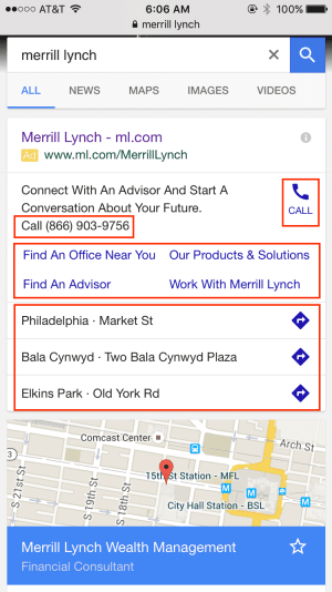merrill lynch google ads campaign