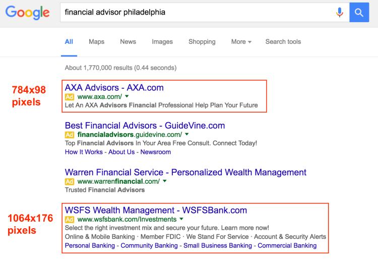 SERPs for Philadelphia Financial Advisor