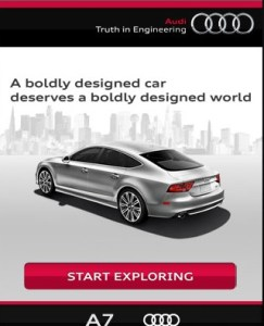audi mobile landing page optimization